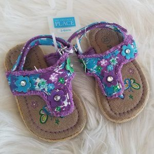 The Childrens Place   Floral Baby Summer Sandal